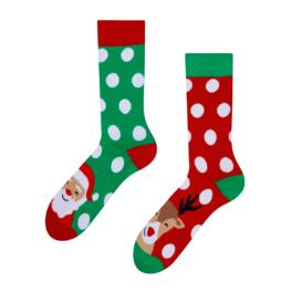 Șosete vesele călduroase Santa și Rudolf