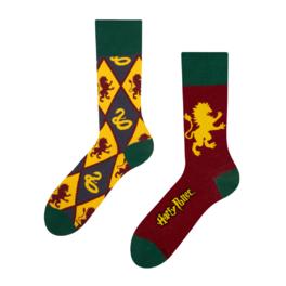 Veselé ponožky Harry Potter ™ - Nebelvír vs Zmijozel