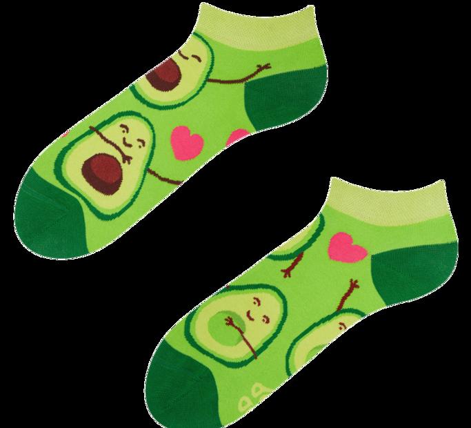 Good Mood Low Socks Avocado Love