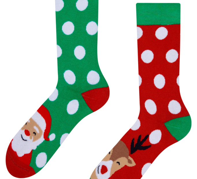 Good Mood Warm Socks Santa & Rudolph