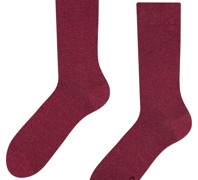 Socks from recycled cotton Burgundy
