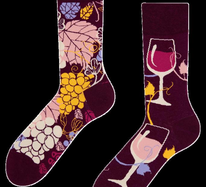 Good Mood Socks - Red Wine