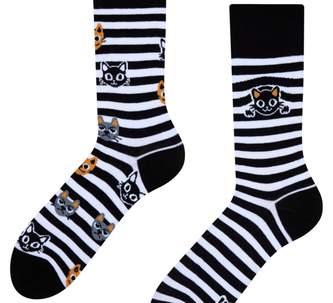 Good Mood Socks Cats & Stripes
