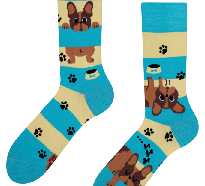 Good Mood Socks Dogs & Stripes
