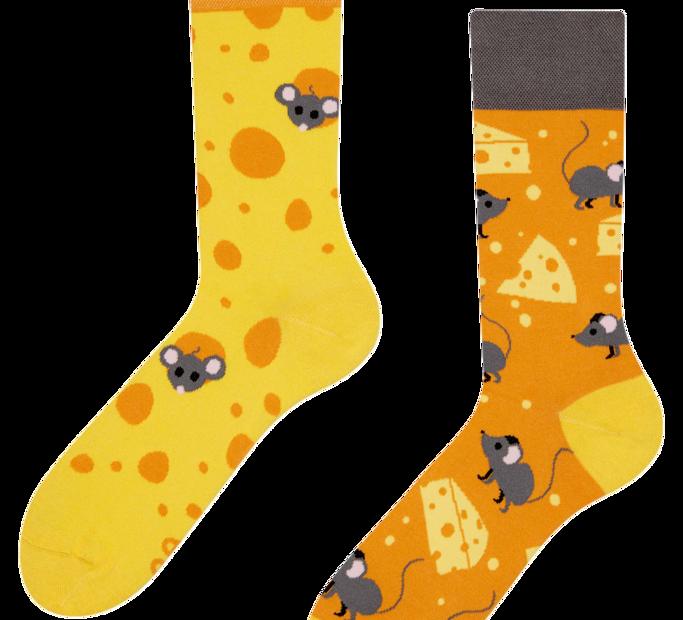 Good Mood Socks - Cheese