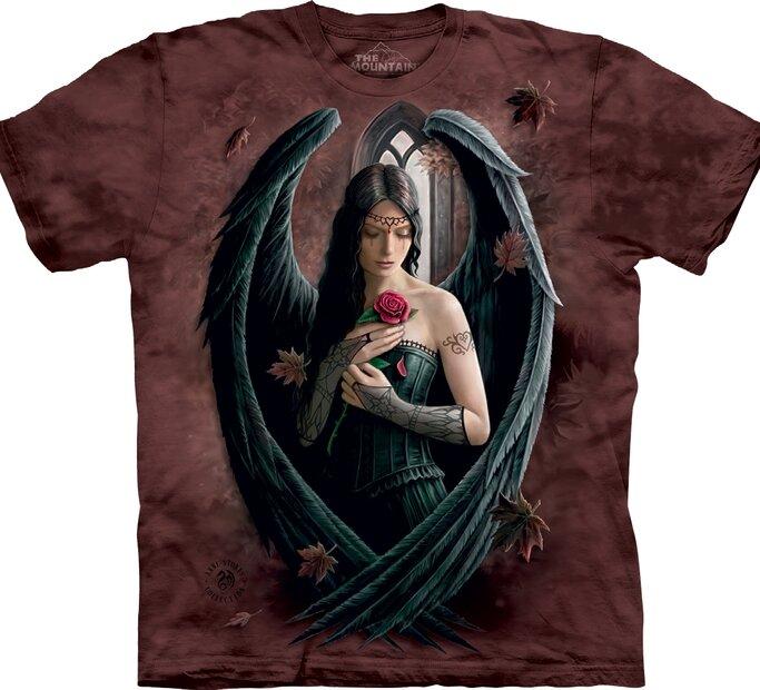 Tricou Îngerul negru cu  trandafir