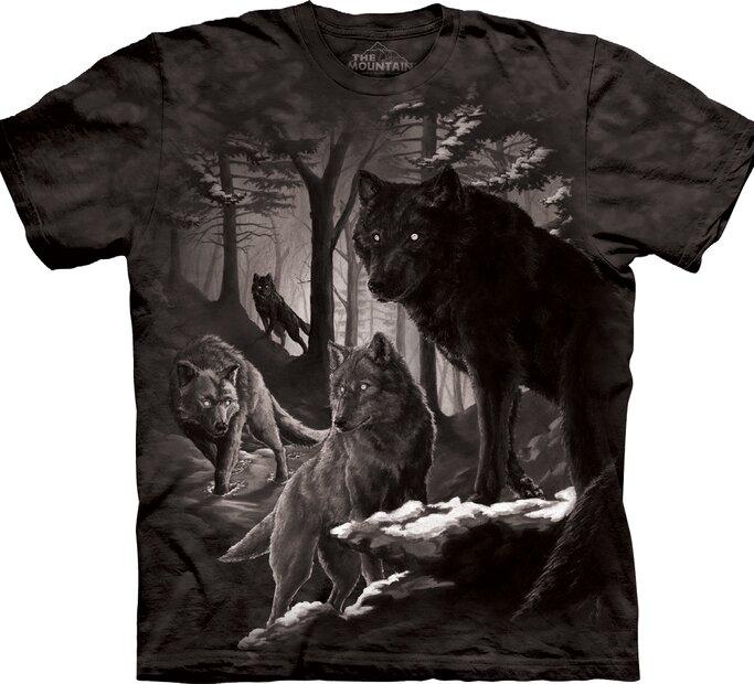 Tričko Temnota s vlkmi