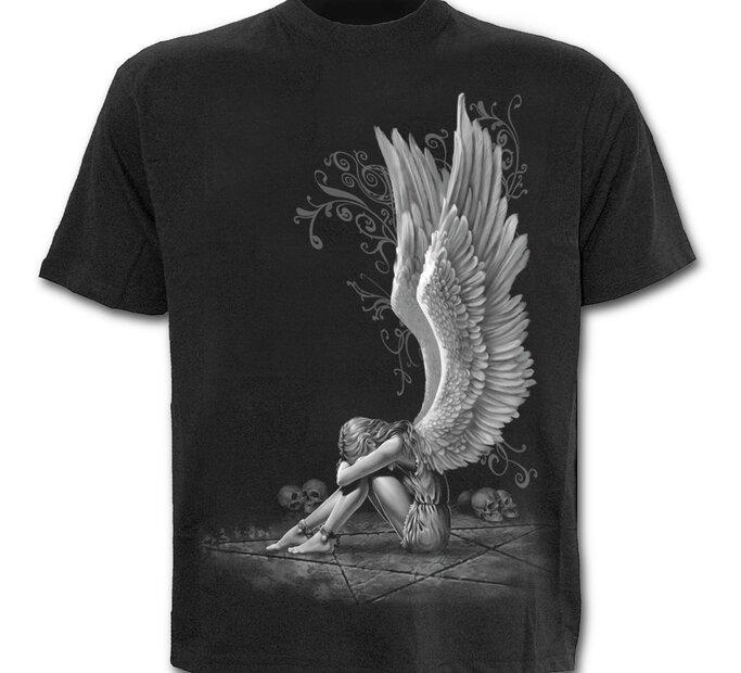 Čierne tričko Krídla anjela