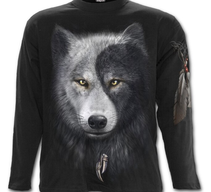 Long Sleeve Wolf's Face