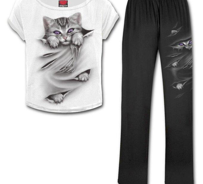 Dámsky pyžamový set Mačacie pazúriky