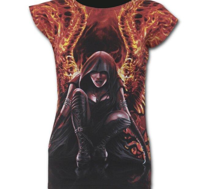 Ladies' T-shirt Flaming Angel