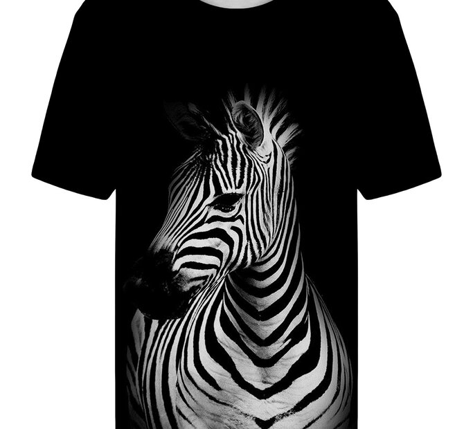 T-shirt with Short Sleeve Zebra