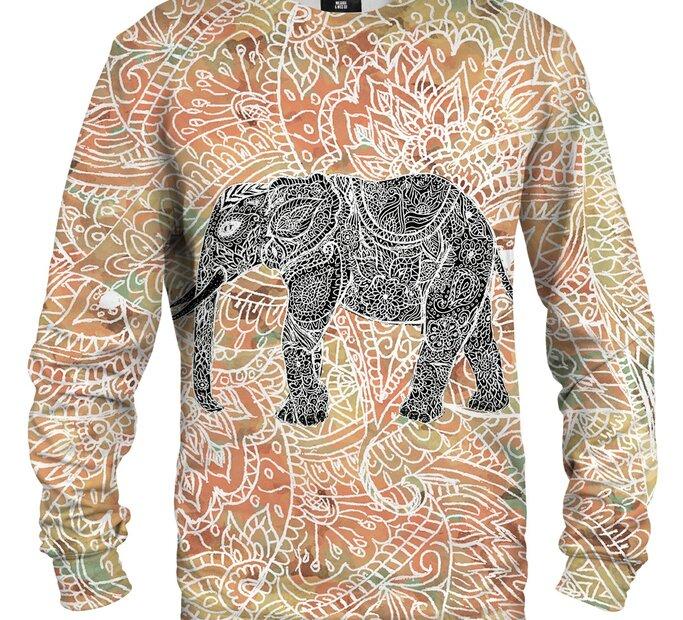 Mikina bez kapucne Indický slon