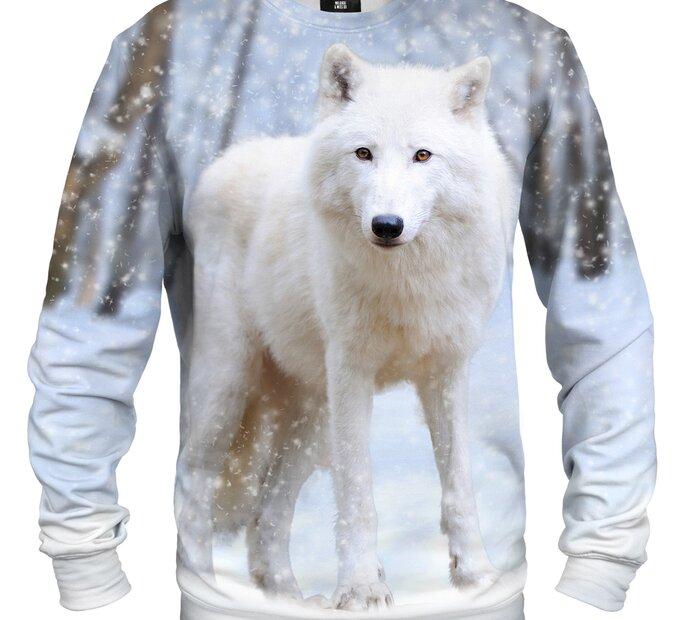 Mikina bez kapucne Vlk arktický