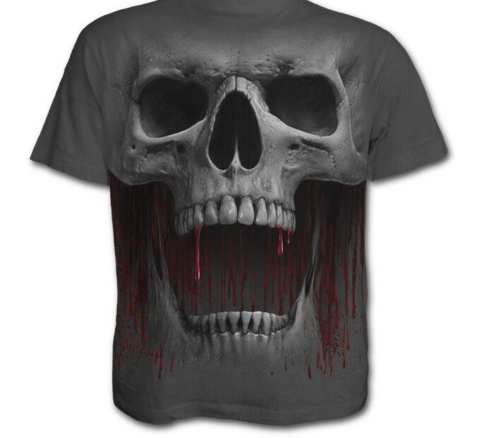 Sivé tričko Výkrik smrti
