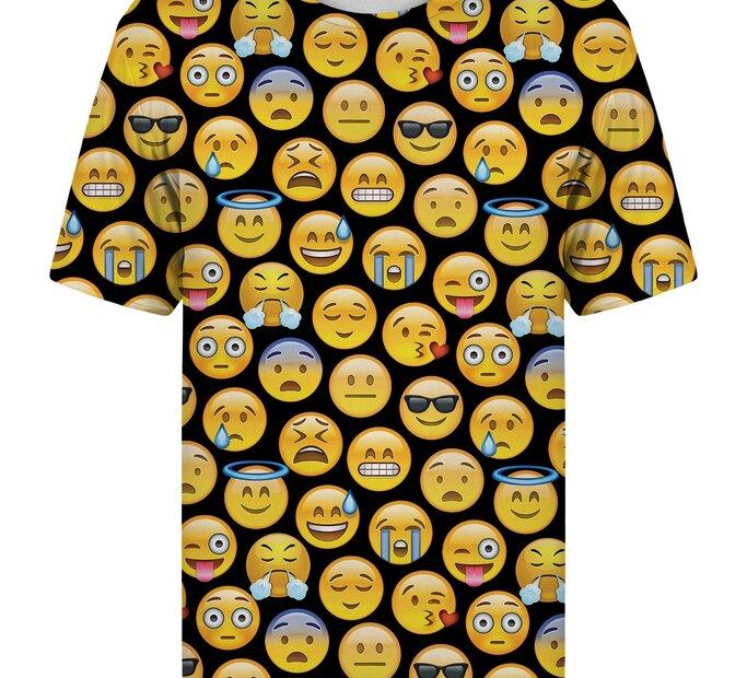 T-Shirt mit kurzen Ärmeln Emoji
