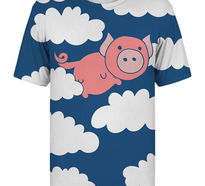 T-shirt with Short SleeveFlying Pig