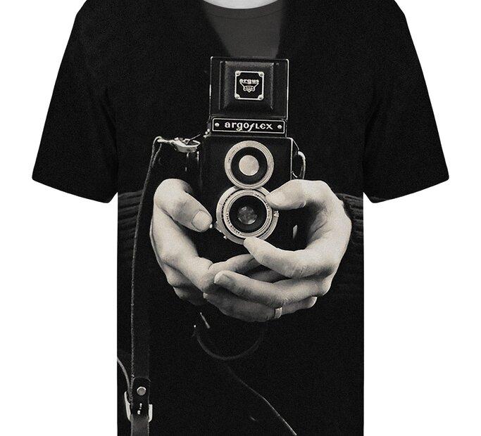 T-Shirt mit kurzen Ärmeln Vintage Kamera