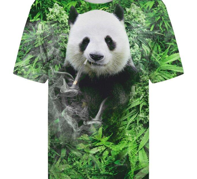 T-shirt with Short SleeveSmiling Panda