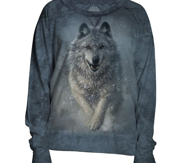 Damen Sweatshirt Blau Schneewolf