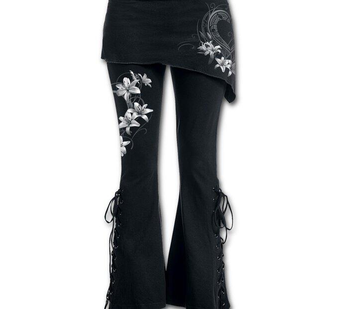 Dámské kalhoty 2v1 Bílé květy