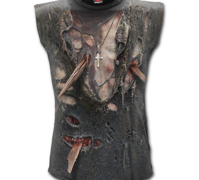 Pánske tielko celopotlač s motívom Zombie telo