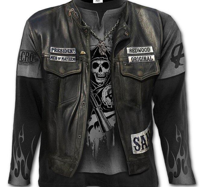 Dlhý rukáv s motívom Sons of Anarchy Jax
