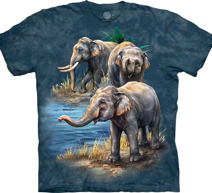 Koszulka z krótkim rękawem Słonie przy wodzie