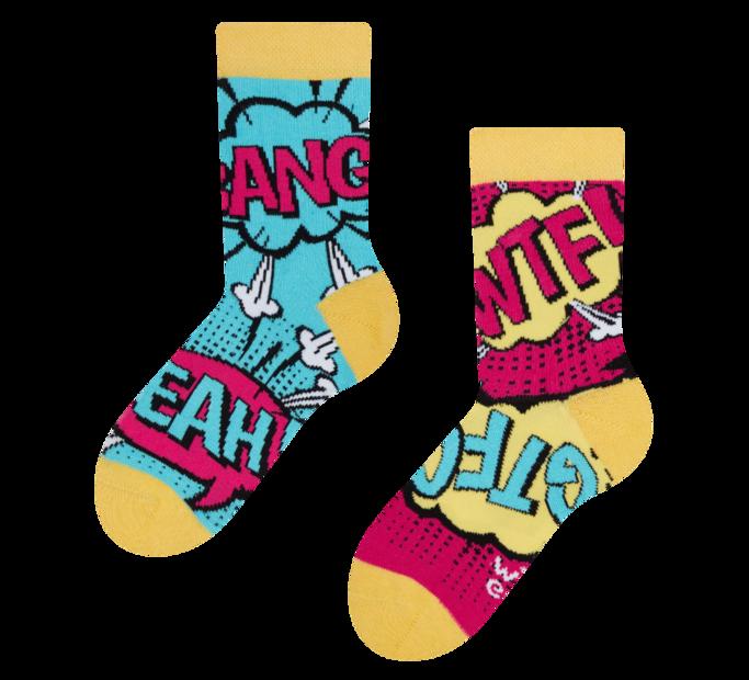 Good Mood Kids Socks Comics