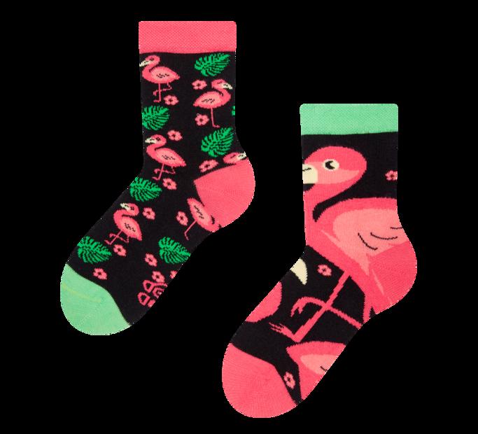 Detské veselé ponožky Plameniaky