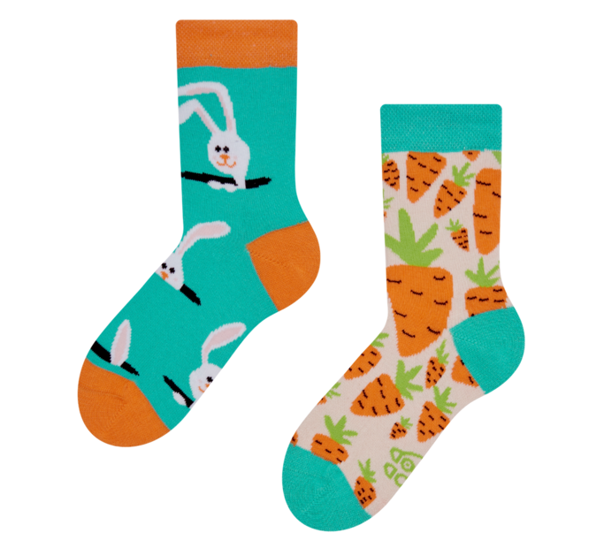 Good Mood Kids Socks Carrot Rabbit