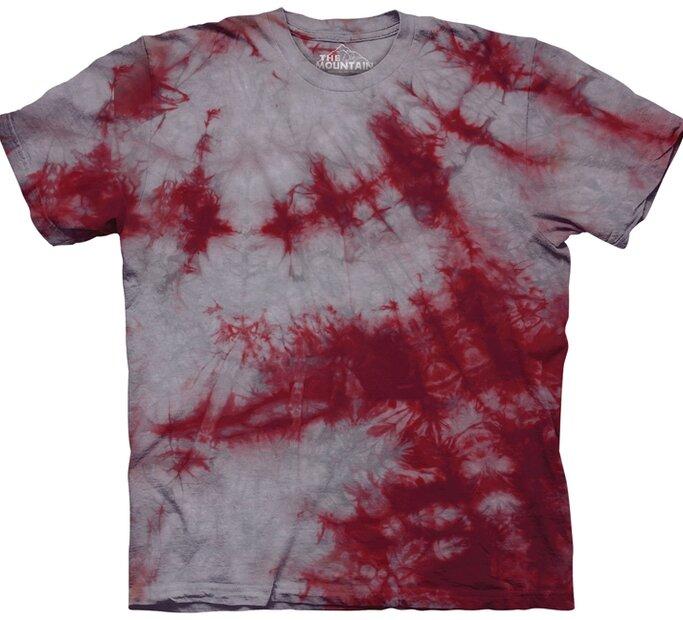 Karmínově-šedé tričko