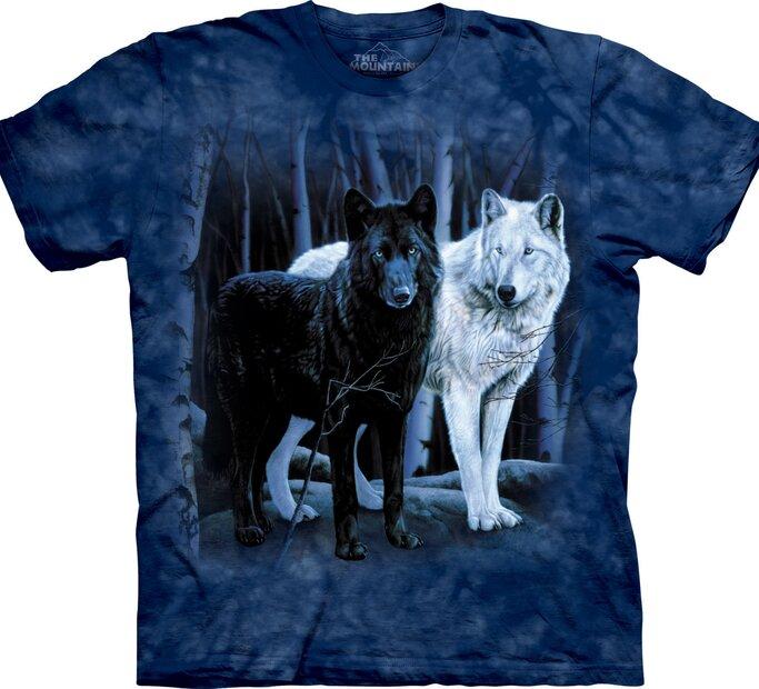 Black & White Wolves Adult