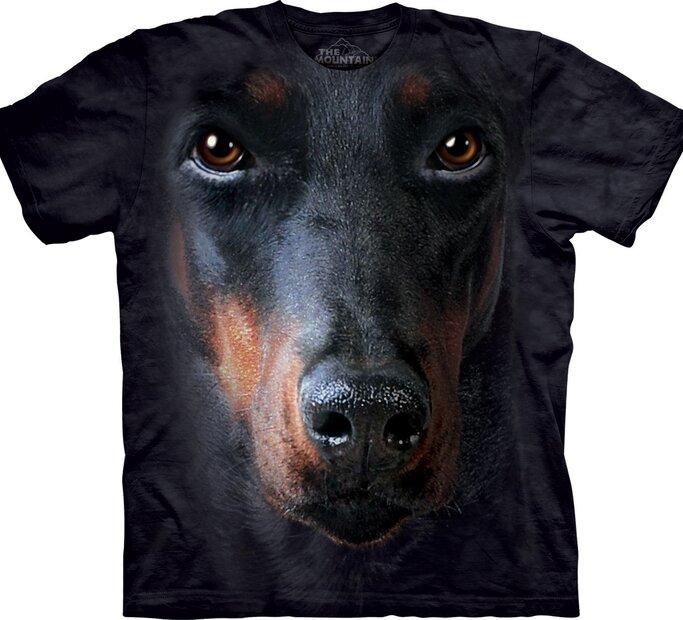 T-Shirt Dobermann Gesicht