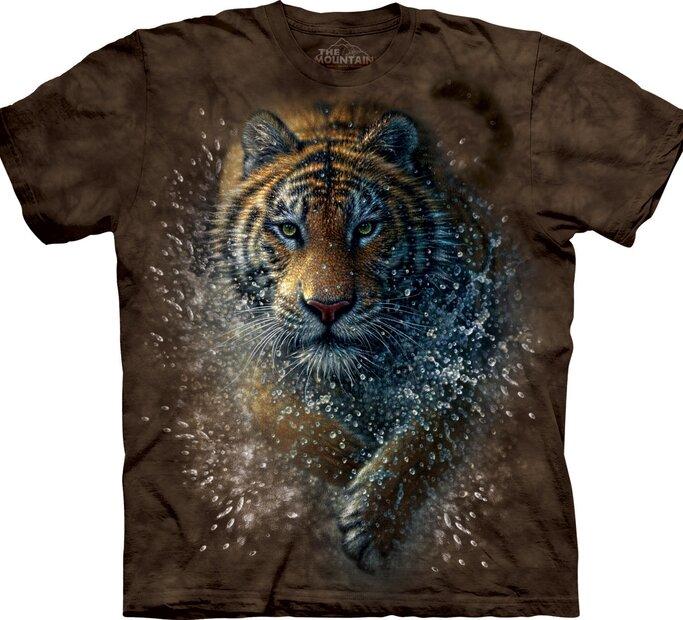T-Shirt Tiger im Wasser