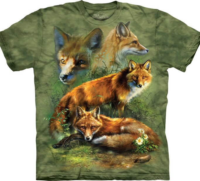 Red Fox Collage Adult