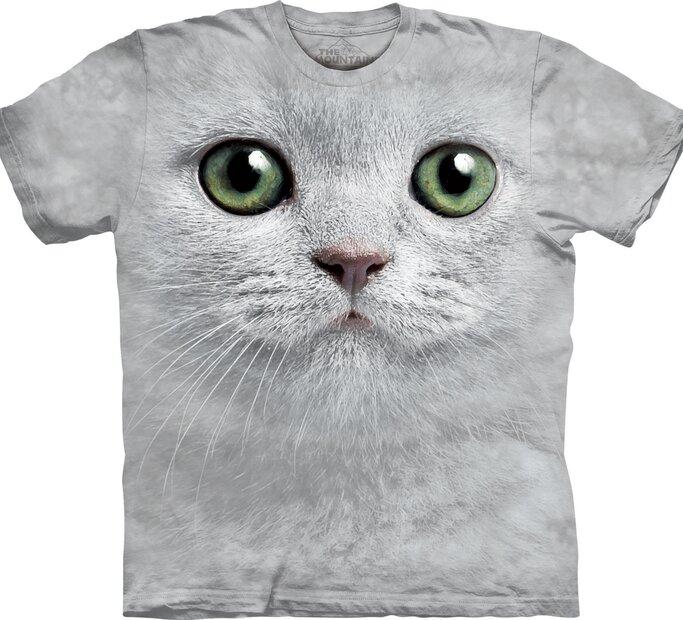 T-Shirt Katze mit grünen Augen