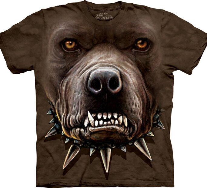 T-Shirt Wütender Pitbull