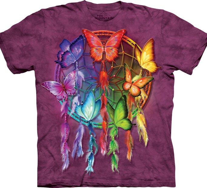 Tričko Duhový lapač snů s motýlky