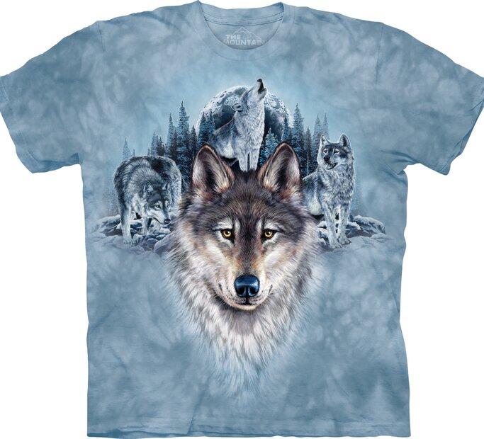Tričko Modré vlky a mesiac