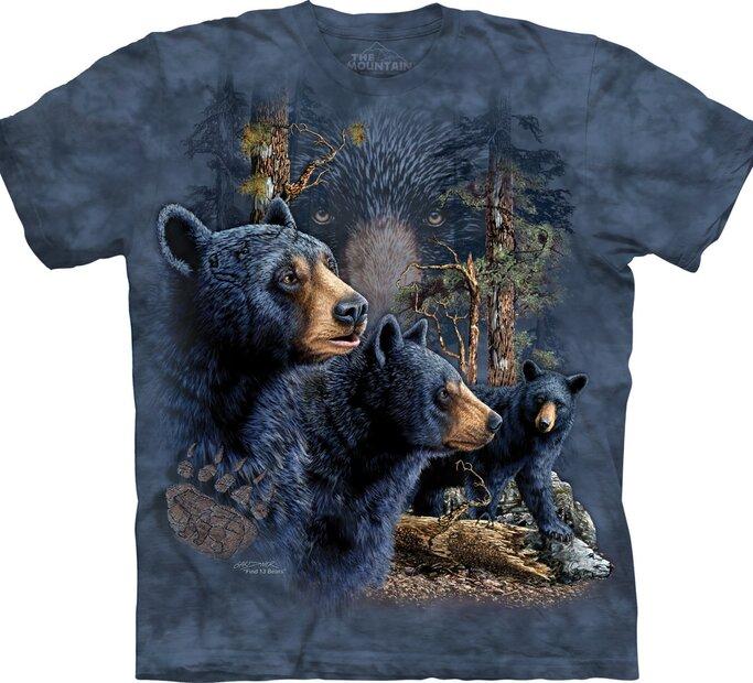 T-Shirt Finde 13 schwarze Bären