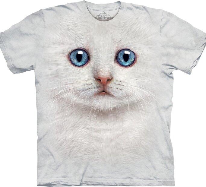 Tričko Obličej bílého koťátka