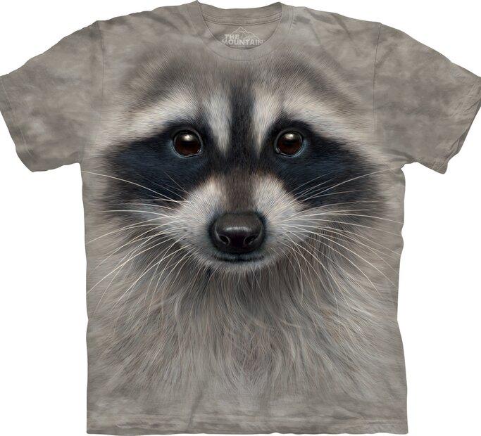 T-Shirt Gesicht Waschbär