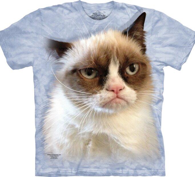 Blue T-shirt Grumpy Cat