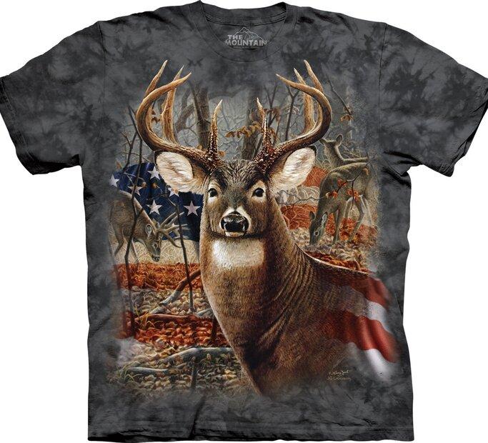 Tričko Jeleň s vlajkou