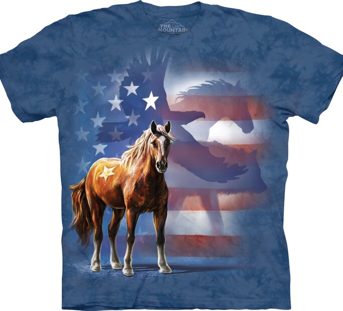 Tričko Divoký kôň s vlajkou
