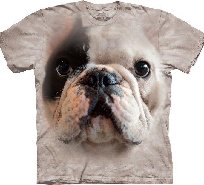 T-Shirt Gesicht Bulldogge Manny