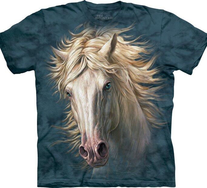 T-Shirt Gesicht Weißes Pferd