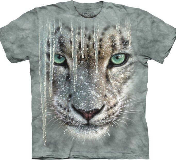 T-Shirt Leopard mit Eiszapfen