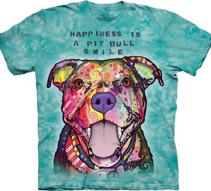 T-Shirt Russo Grinsender Pitbull